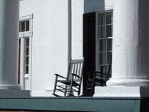 Historic Building Detail. A closeup of the historic Bulloch Hall building in Roswell, Georgia stock photo