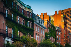 Historic buildings along Beacon Street in Beacon Hill, Boston, M Stock Images