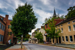 Historic buildings along Shenandoah Street in Harper's Ferry, We Stock Photo