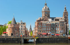 Historic buildings in Amsterdam Stock Image