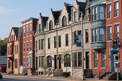 Historic buildings. Architectural preservation of historic buildings Stock Photos