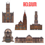Historic buildings and architecture of Belgium Royalty Free Stock Image