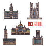 Historic buildings and architecture of Belgium Stock Photos