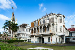 Historic Buildings around Georgetown, Guyana Stock Photography