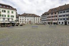 Historic buildings around the square Stock Photos
