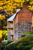 Historic buildings and autumn color in Harpers Ferry, West Virgi Royalty Free Stock Photography