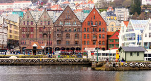Historic Buildings, Bergen Norway Stock Photos