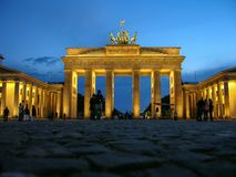 Historic buildings in Berlin Brandenburger Tor - Brandeburg gate royalty free stock photos