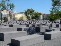 Historic buildings in Berlin: Memorial to the Murdered Jews of Europe royalty free stock images