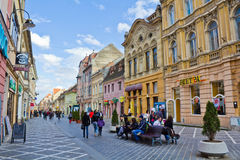 Historic buildings in Brasov city Royalty Free Stock Photography