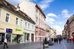 Historic buildings in Brasov city Royalty Free Stock Photo