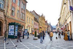 Historic buildings in Brasov city Stock Photography