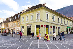 Historic buildings in Brasov city Stock Images