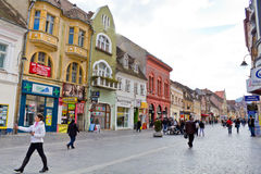 Historic buildings in Brasov city Royalty Free Stock Photos