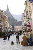 Historic buildings in Brasov city Stock Image