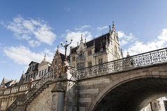 Historic buildings and bridge Royalty Free Stock Image