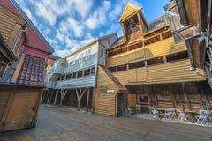 Historic buildings of Bryggen in the City of Bergen, Norway Stock Photo