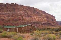 Historic buildings built by mormons at glen canyon Royalty Free Stock Photos