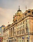 Historic buildings on the Bund riverside of Shanghai Stock Image