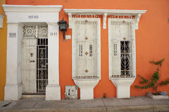 Historic Buildings in Cartagena de Indias Royalty Free Stock Photography