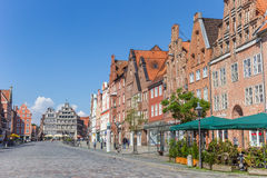 Historic buildings at the central square of Luneburg Royalty Free Stock Photo