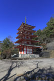 Historic buildings Chureito Pagoda in Japan. Historic buildings  Chureito Pagoda in Japan Stock Photos