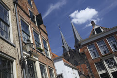 Historic buildings in the city of Deventer, The Netherlands stock photography