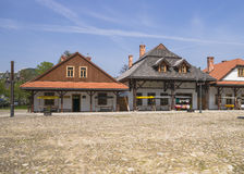 Historic buildings. Historic  buildings  in the city, Galician in air-open museum in Nowy Sącz. Poland Stock Photos