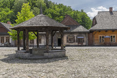 Historic buildings. Historic  buildings  in the city, Galician in air-open museum in Nowy Sącz. Poland Stock Image