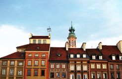Historic buildings. City, historical buildings, rebuilt the city, the old city, history, buildings, beautiful places of the city, familiar places, tourists stock image