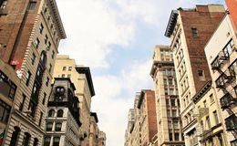 Historic buildings in the city of New York Royalty Free Stock Image
