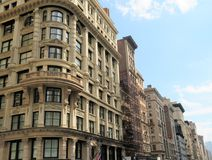 Historic buildings in the city of New York Royalty Free Stock Images