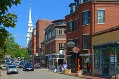 Congress Street, Portsmouth, New Hampshire, USA. Historic buildings on Congress Street near Market Square in downtown Portsmouth, New Hampshire, USA Stock Image
