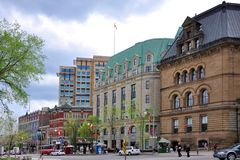 Historic buildings in downtown Ottawa, Canada Stock Photography