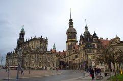 Historic buildings Dresden Royalty Free Stock Photos