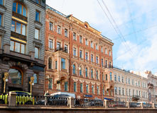 Historic buildings at the embankment of Criboyedov Canal in St Petersburg, Russia Stock Image