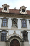 Historic Buildings facade in Prague Czech Republic Stock Image