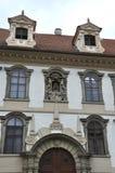 Historic Buildings facade in Prague Czech Republic Stock Image