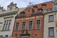 Historic Buildings facade in Prague Czech Republic Stock Photography