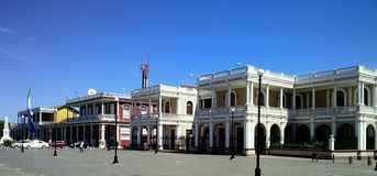 Historic buildings of Granada, Nicaragua Stock Photography