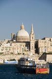 Historic buildings grand harbor malta valletta Stock Photo