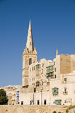 Historic buildings grand harbor valletta malta Stock Photography