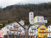 Historic buildings in Hallstatt, Salzkammergut, Austrian Alps Royalty Free Stock Photos