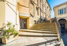 Historic buildings in a hillside hamlet. Of Emilia Romagna, Italy Stock Photo