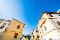 Historic buildings in a hillside hamlet. Of Emilia Romagna, Italy Stock Photos