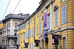 Historic buildings in the historic center of parma Royalty Free Stock Photo