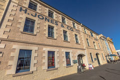 Hobart Historic Buildings. Henry Jones Art Hotel, Hunter Street, oldest waterfront warehouses in Hobart, Tasmania, Australia. The hotel  served as a jam factory Stock Images