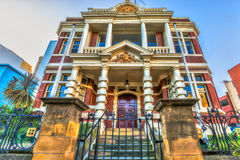Historic Buildings Hobart. Spectacular and colorful historical buildings, Hobart Town, Tasmania, Australia Royalty Free Stock Photo