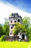 Zhenanlou Tower at Kaiping Diaolou world heritage site. The historic buildings of Kaiping Diaolou in Zili village in Kaiping China in Guangdong province on a stock photo
