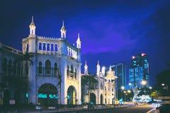 Historic buildings of Kuala Lumpur at night Stock Photos